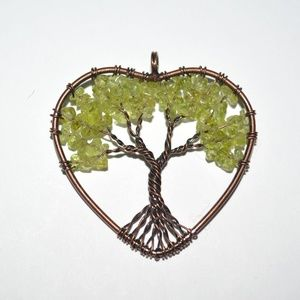 Adventurine Tree of Life Copper Wrapped